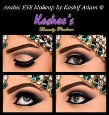 stunning arabic eye makeup with bronze shade by kashif aslam