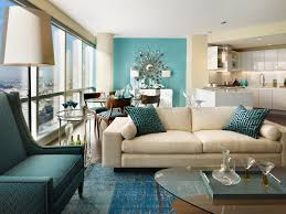 Breathtaking Cream Sleeper Couch And Teal Wall Painted As Well In Living  Room Ideas