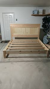 diy king bed frame. Ana White | Build A Farmhouse Bed, Calif King Free And Easy DIY Project Furniture Plans Painting Pinterest White, Diy Bed Frame I