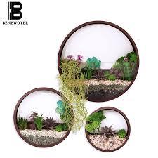 kf 3 pcs modern brief wall vase bonsai