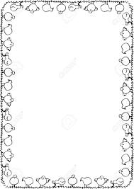 chicken border clip art. Perfect Art Easter Border Clipart Black And White  ClipartFest To Chicken Border Clip Art T