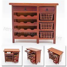 miniature dollhouse furniture woodworking. Odoria 1:12 Miniature Red Wood Wine Hutch Kitchenware Cabinet With Working Drawers Dollhouse Furniture Woodworking