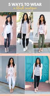 Light Blue Cardigan Outfit 5 Ways To Wear A Pink Or Blush Cardigan For Spring