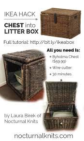 furniture to hide litter box. ikea cat litter box hack turn a cheap chest into custom furniture in to hide
