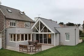 extension ossature bois pour maison en