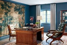 Home office pictures Grey In Beverly Hills Home By Waldo Fernandez The Office Features 17thcentury Belgian Tapestry From Architectural Digest 50 Home Office Design Ideas That Will Inspire Productivity