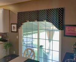 curtain toppers for sliding glass doors sliding glass door valance