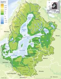 Baltic Drainage Basins Catchment Area With Depth