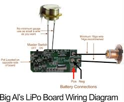 big al s pwm side mounted 6s lipo board w pot