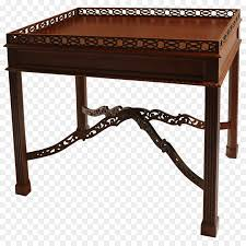 table kittinger company chinese chippendale mahogany chair table