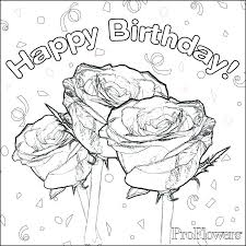 Happy Birthday Coloring Pages Free Happy Birthday Card Free