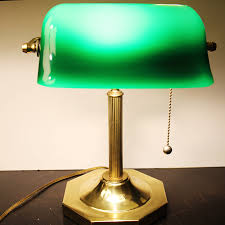 green bankers desk lamp style