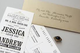 Jessica Andrews Vintage Inspired Typography Wedding Invitations