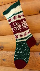 Handmade Christmas Stockings Hand Knit Christmas Stocking Christmas Stockings Knits And Hands