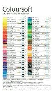 Derwent Coloursoft Color Chart Derwent Coloursoft Colored Pencils Set Of 72 Color List