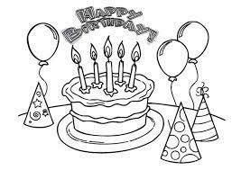 Tuyển tập tranh tô màu bánh sinh nhật cho các bé