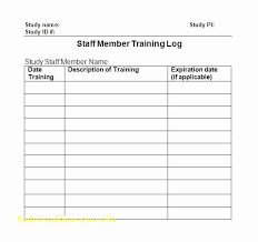 training plan template word employee training log template excel along with employee training