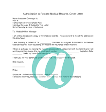Authorization Letter To Release Medical Records Refrence Cover ...