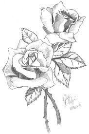 Roses With Leaf Drawing Colors L How To Draw And Color A Rose For