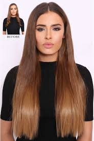 Double Thick Straight Ombre Hair Extensions Lullabellz