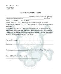 Tattoo Consent Forms Classy Free Tattoo Consent Form Template Forms Tattoos Body Piercing