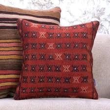red kilim rug tribal red rug throw pillow decorative gray red kilim rug