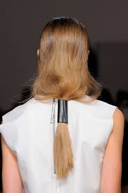 hair trend report leather hair accessories