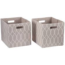 better homes and gardens fabric cube storage bins 12 75 x 12 75 set of 2 multiple colors com