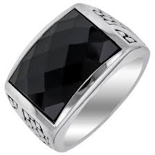 Black Onyx Wedding Ring Mens