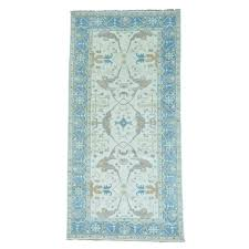 for more images6 x12 ivory hand knotted oushak pure wool gallery size oriental rug sh27282