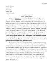 mother tongue erica hansen pd mother tongue pg  4 pages mother tongue full essay