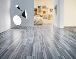 Interesting Gray Shaw Laminate Flooring Matched With White Wall Plus Floor  Lamp For Home Interior Design