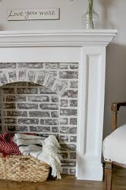 how to diy a faux brick fireplace and you ll never believe how easy it
