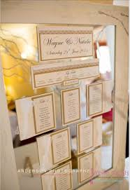 Mirror Wedding Seating Chart Table Plan Seating Charts White Crafts