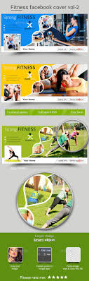 fitness facebook cover template psd design graphicriver net