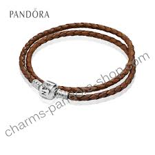 pandora brown braided double leather charm bracelet pandora brown braided double leather charm