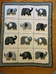 Crochet Elephant Blanket Pattern