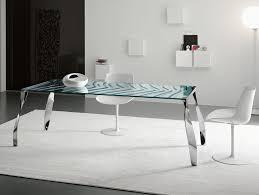Italian Glass Dining Table Nella Vetrina Tonelli Luz De Luna Contemporary Italian Dining Table