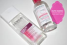 dupe diaries l oreal paris sublime soft gentle micellar solution