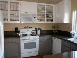 Grey Cabinets Kitchen Painted Grey Kitchen Cabinets With Black Countertops Furniture Marvelous