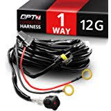 amazon com tuff led lights pro universal wiring harness for opt7 12 gauge 500w wiring harness w switch for led light bars 11ft dimmer