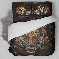 wongsbedding bedding set 3d tiger duvet quilt cover usa twin full queen king size drop
