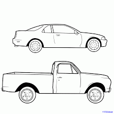 Draw a Pickup Truck, Pickup Truck, Step by Step, Drawing Sheets ...