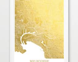 Small Picture Melbourne map Etsy