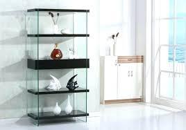 glass bookshelf glass shelf bookcase modern leaning bookshelf tall glass shelving unit contemporary wood bookcase glass