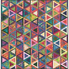 Moda Fabrics Wild Waves Batiks Batiks Bohemian Pyramids Quilt ... & Moda Fabrics Wild Waves Batiks Batiks Bohemian Pyramids Quilt Pattern Adamdwight.com