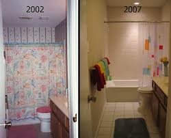Small Picture Wonderful Before And After Bathroom Remodels In Design Ideas