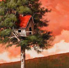 sunset tree house painting lesson on dvd