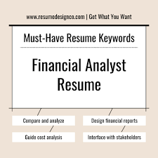 Resume Key Words MustHave Keywords for Financial Analyst Resume ResumeDesignCo 37