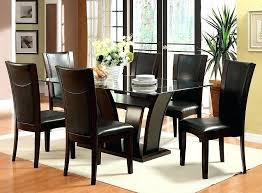 7 piece kitchen table sets dark cherry finish rectangular glass 7 piece dining 7 piece kitchen